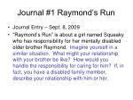 journal 1 raymond s run