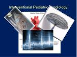 interventional pediatric cardiology