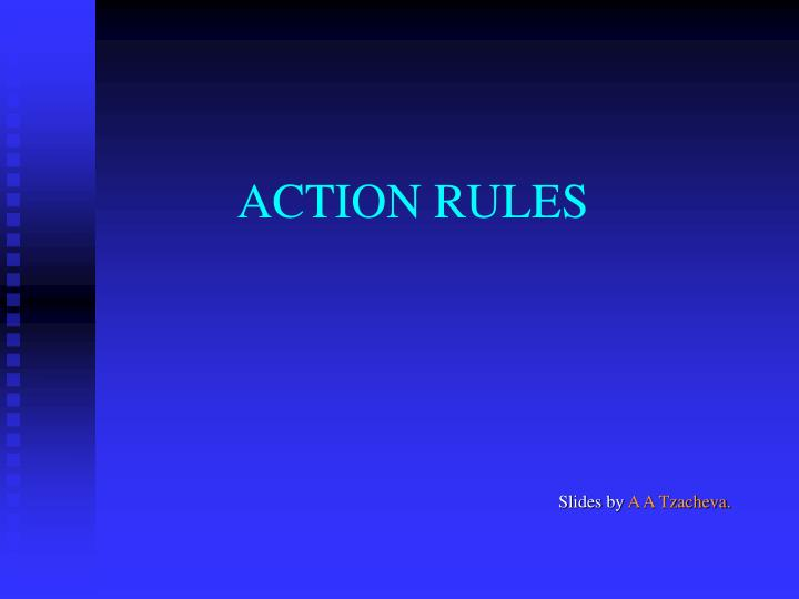 action rules n.