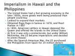 imperialism in hawaii and the philippines