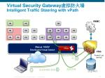 virtual security gateway intelligent traffic steering with vpath