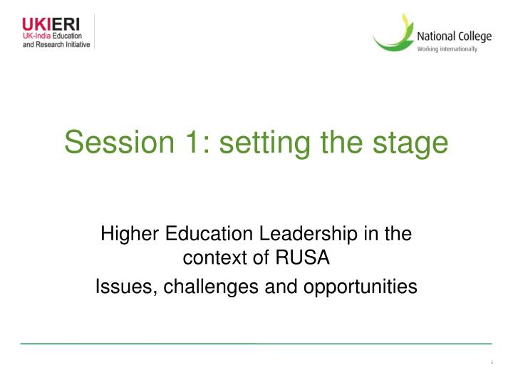 session 1 setting the stage n.