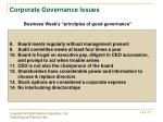 corporate governance issues1
