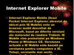 internet explorer mobile