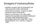 disregard of insolvencyrules