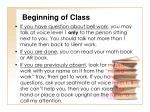 beginning of class2