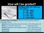 how will i be graded