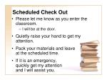 scheduled check out