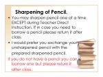 sharpening of pencil