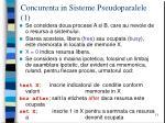 concurenta in sisteme pseudoparalele 1