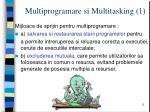 multiprogramare si multitasking 1