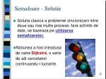 semafoare solutie