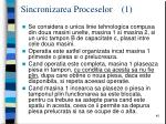 sincronizarea proceselor 1