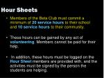 hour sheets