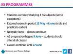 as programmes