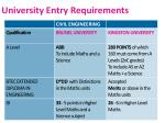 university entry requirements1