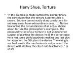 heny shue torture