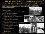what built b c indian industry