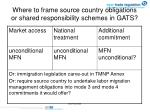 where to frame source country obligations or shared responsibility schemes in gats