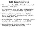 1860 1903 la narrativa