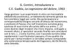 g contini introduzione a c e gadda la cognizione del dolore 1963