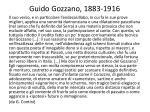 guido gozzano 1883 1916