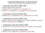 i poeti del novecento le generazioni o macr le generazioni nella poesia italiana del novecento 1953