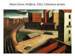 mario sironi periferia 1922 collezione privata