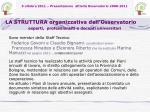 5 ottobre 2011 presentazione attivit osservatorio 2008 20116