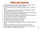 kh m ph internet