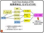 fault tree analysis fta