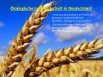 kologische landwirtschaft in deutschland