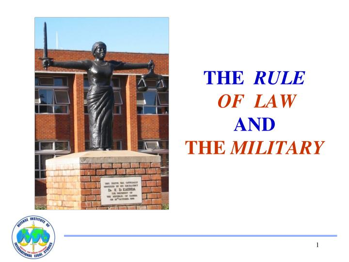 the rule of law and the military n.