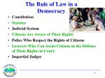 the rule of law in a democracy