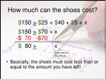 how much can the shoes cost