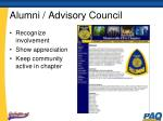 alumni advisory council