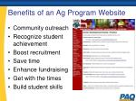 benefits of an ag program website