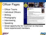 officer pages