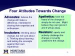 four attitudes towards change