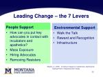 leading change the 7 levers
