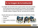 b la imagen de la instituci n
