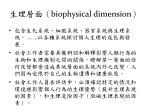 biophysical dimension