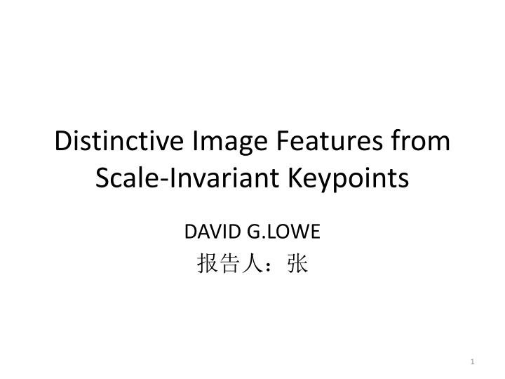 distinctive image features from scale invariant keypoints n.