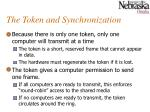the token and synchronization