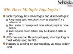 why have multiple topologies