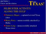 filibuster activity along the gulf