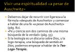 vivir una espiritualidad a pesar de auschwitz