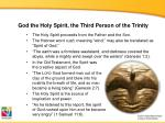 god the holy spirit the third person of the trinity