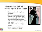 jesus god the son the second person of the trinity