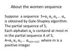 about the women sequence